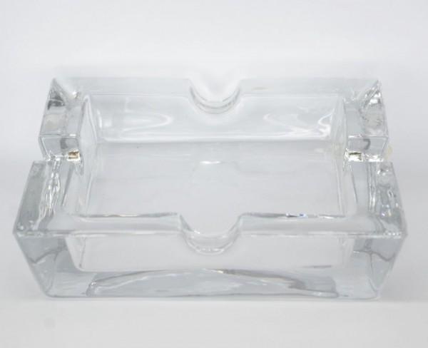 Cigarren Aschenbecher Quadrat Glas